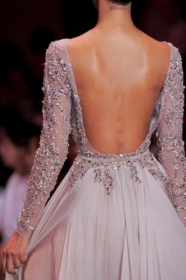 Ellie Saab is it for me. To wear any of her gowns in my lifetime is a dream..... This back! | Dresses | Evening