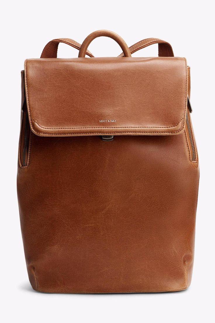 Vegan Leather Backpack | Vegan leather, Backpacks and Shoulder