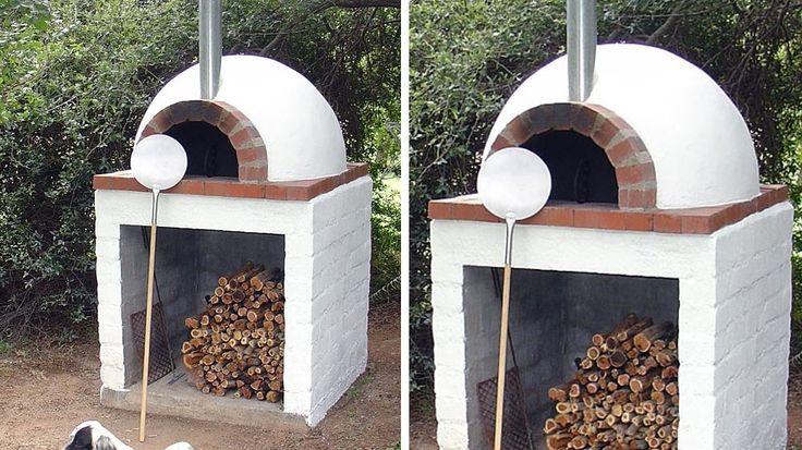 four a pizza briques blanches