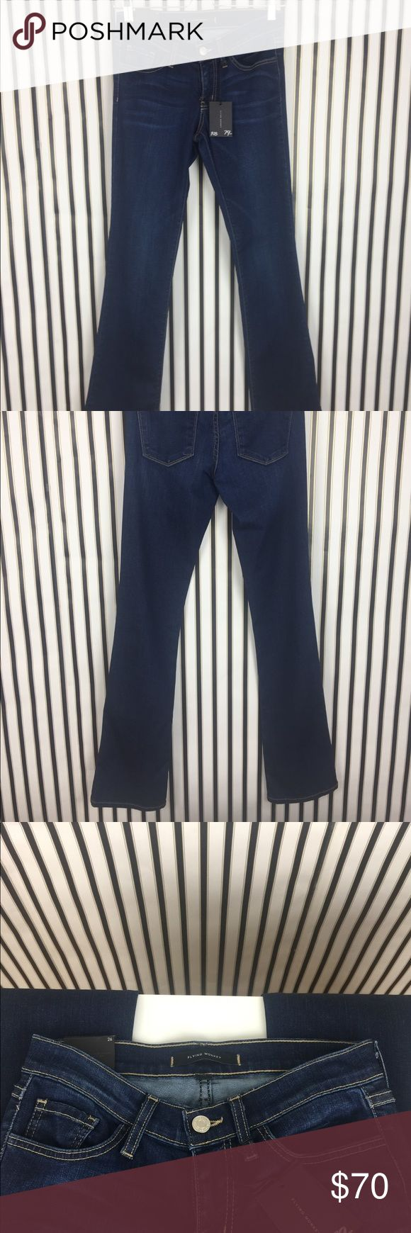 """NWT Flying Monkey Dark Blue Flare Jeans NEW with tags. Flying monkey Jeans. Flare cut.  All offers welcomed. No modeling trades. Good for tall size.  Waist-28"""" Length-41"""" Inseam-33"""" 121JCM80 Flying Monkey Jeans Flare & Wide Leg"""