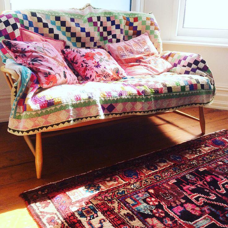 One of our crazy colourful sofas #boho interiors