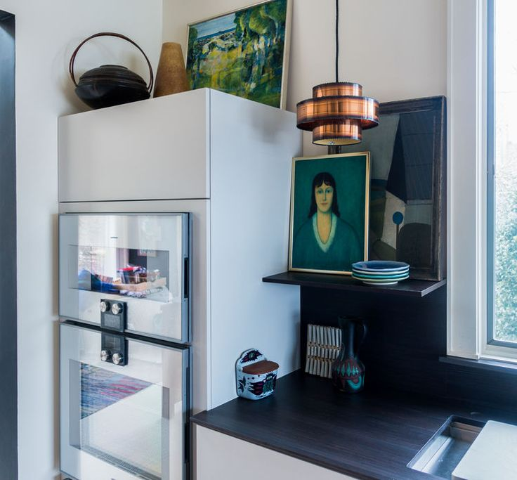 Art in the Kitchen. Kitchen renovation by Susan Serra in New England