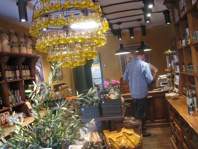 Olive oil chandelier
