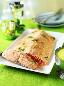 Roasted chardonnay salmon ideal for a meat-free Easter sunday dinner!