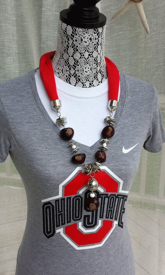 Classy necklace of soft jersey fabric with by FanaticFab on Etsy, $34.99