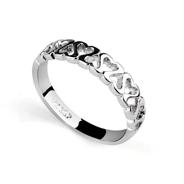 Allencoco ювелирные изделия платина покрыли специальный логотип тонкие кольца для милые девушки