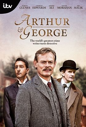 'Arthur & George' 2015, PBS Mystery, Mini-Series - Staring Martin Clunes, Arsher Ali, Charles Edwards. An atmospheric & clever new adaptation of Julian Barnes' novel about Arthur Conan Doyle's attempt to clear the name of George Edalji; a half-Indian, vicar's son who was wrongly convicted of a bizarre crime in the 1800's.