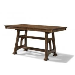 Ozark Gathering Height Trestle Table With Shelf By AAmerica At Story U0026 Lee  Furniture