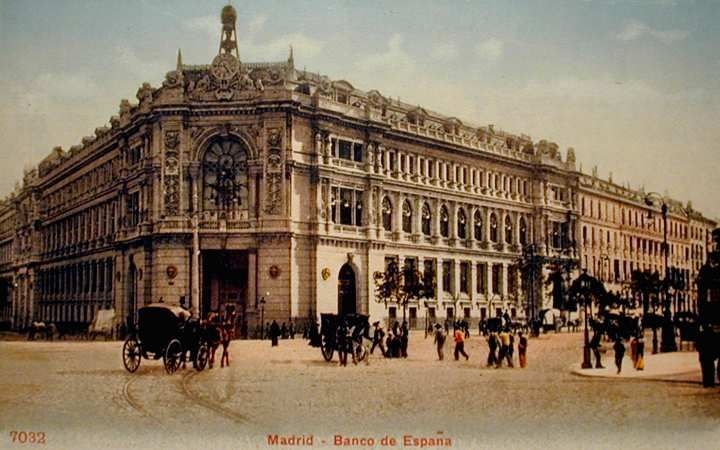 Postales antiguas de Madrid: Banco de España