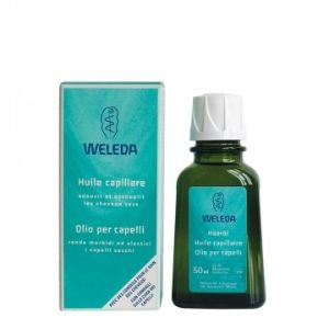 Olio nutriente per capelli Olio con estratti di trifoglio e bardana e rosmarino per capelli fragili e sfibrati e per il trattamento delle doppie punte.