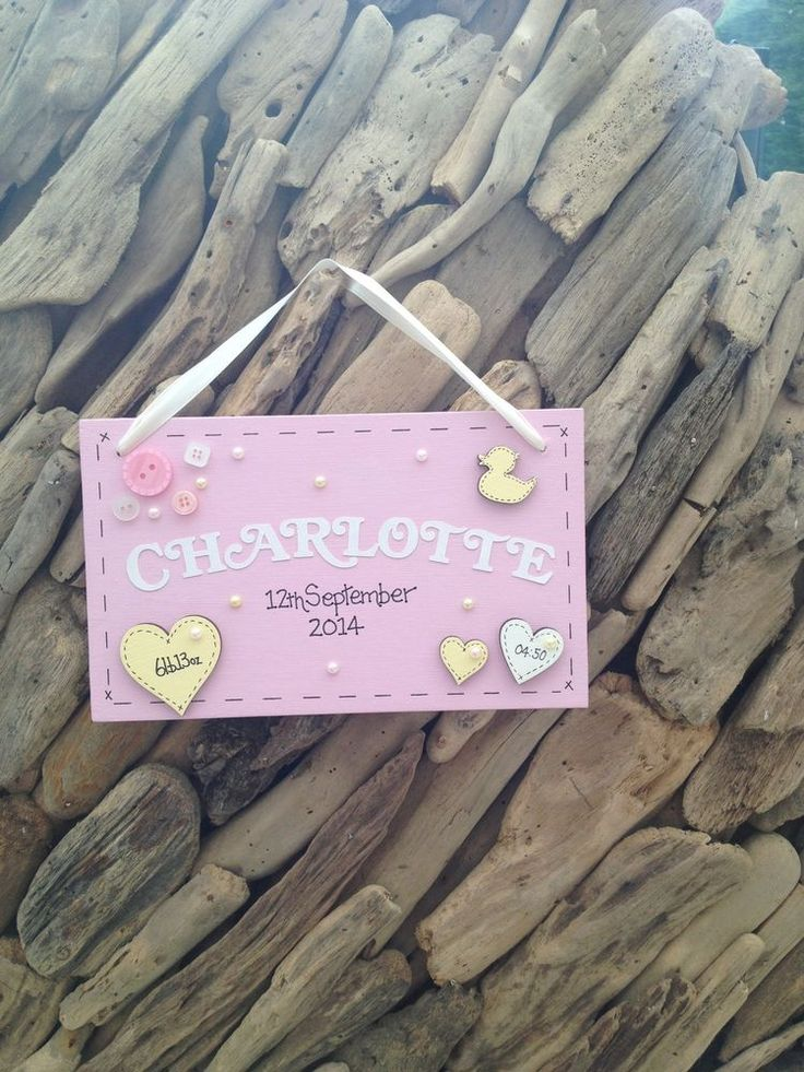 Baby Girl Personalised Newborn New Plaque Christening Keepsake Gift Name Weight