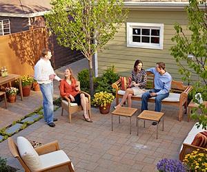 patio ideaSummer Dreams, Simple Stones, Simple Chairs, Patios Projects, Patios Gardens, Patios Ideas, 2009 Ideas, Patio Ideas