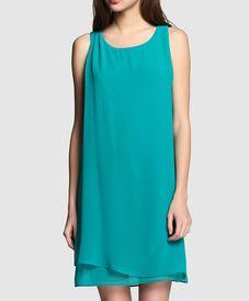 Vestido verde gasa NAF NAF