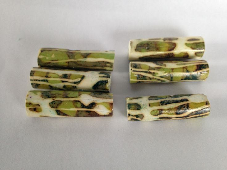Polymer tube beads by Northern bead factory Etsy