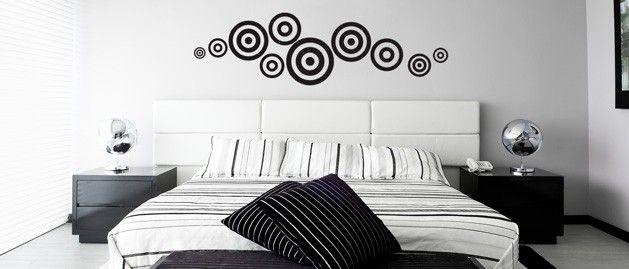 Kruhy (1069) / Samolepky na zeď, stěnu a nábytek