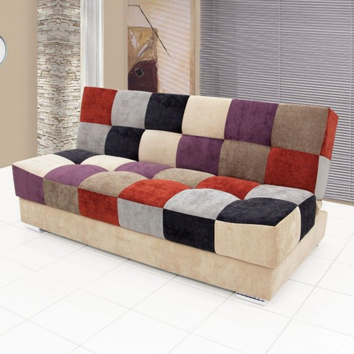 Sof cama casal c encosto reclin vel milla patchwork sof cama pinterest sofas - Sofa camif ...
