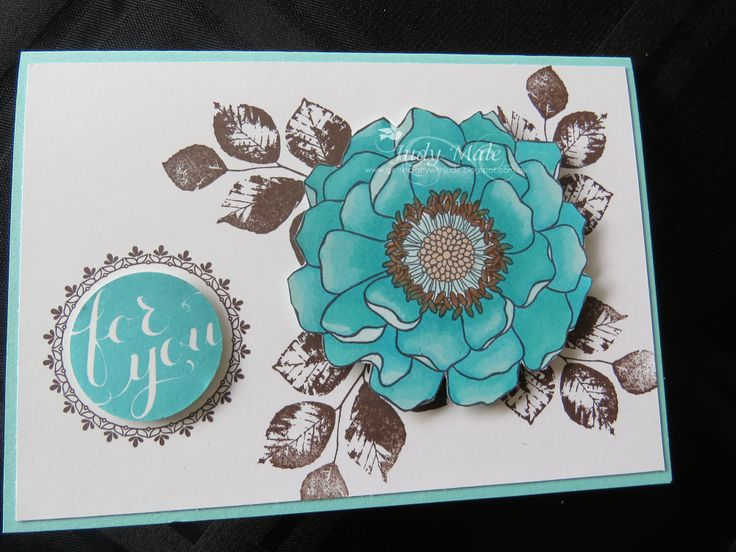 Stampin' Up! Blended Bloom Kinda Eclectic  Blendabilities  Hello There