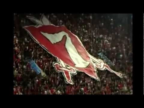 Olympiacos - Gate 7 red fans - YouTube