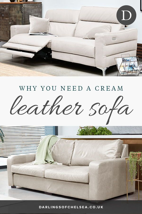 Decorating With A Cream Leather Sofa Darlings Of Chelsea