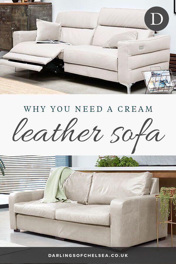 Decorating with a Cream Leather Sofa | Cream leather sofa ...