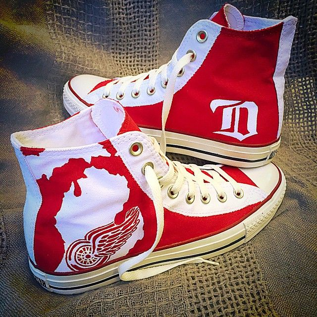 Detroit Red Wings Converse Shoes