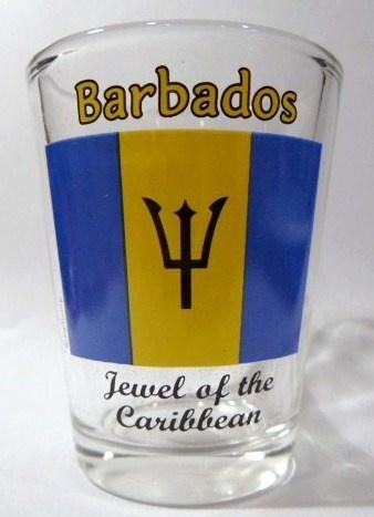 Barbados Flag Shot Glass Shotglass   eBay