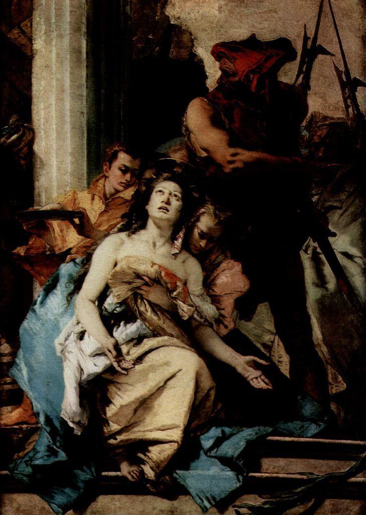 Martirio de santa Águeda (1750; Gemäldegalerie de Berlín).