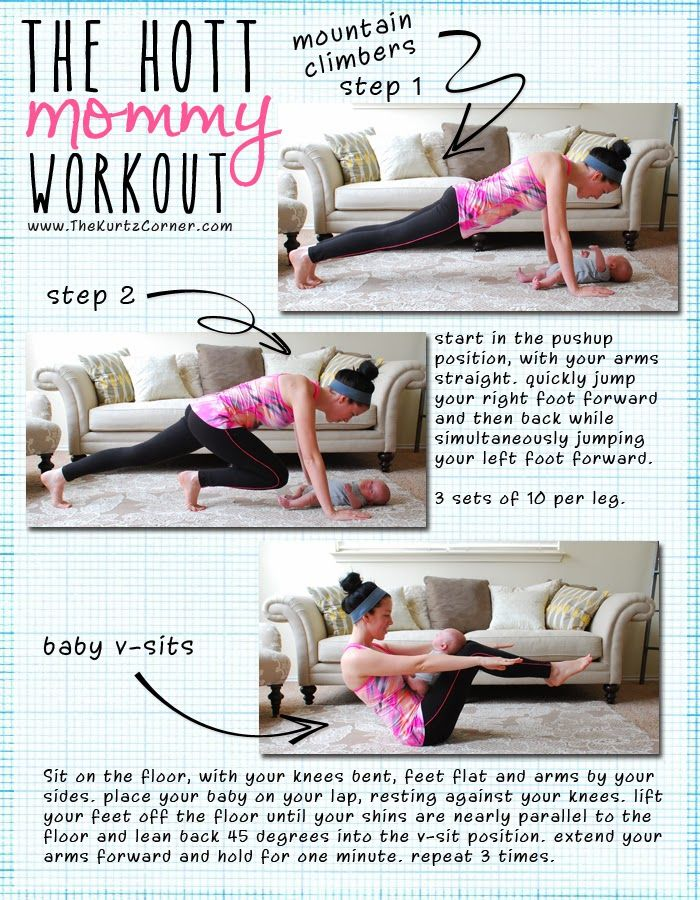 Get the pre-baby body back with The Hott Mommy Workout! 6 great exercises you can do with your little one!