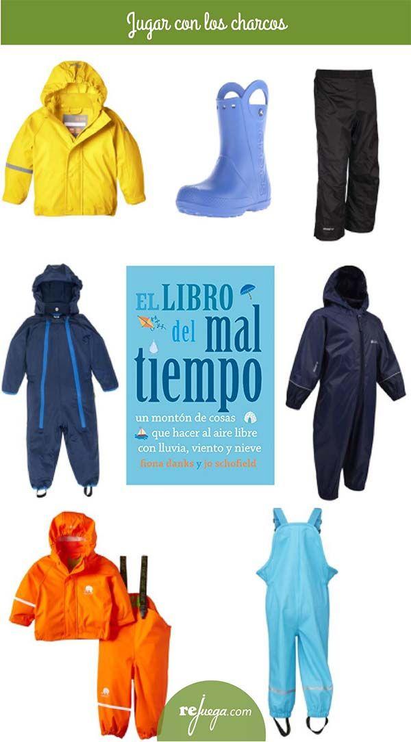 ropa impermeable para niños para jugar en la lluvia