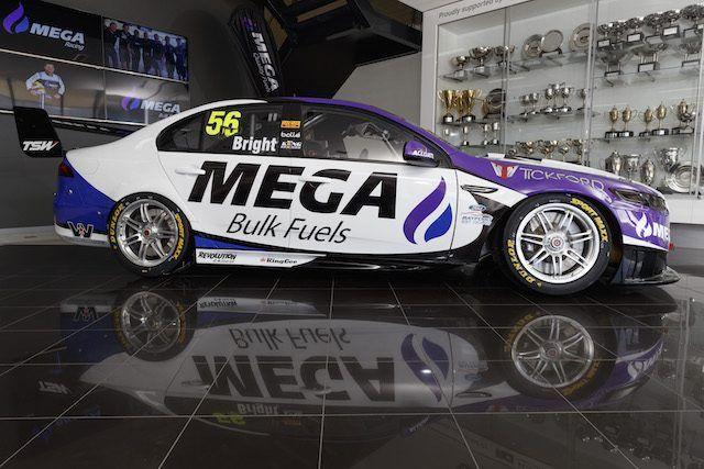 MEGA livery revealed for Supercars veteran Bright - Speedcafe