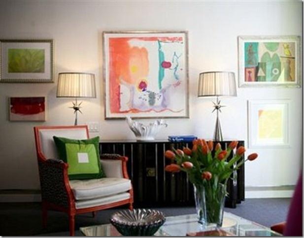 Pair Of Lamps For Each End Hanging ArtworkLiving Room DesignsArt