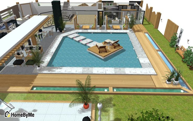 Swimming Pool In 3d 3d Home Design