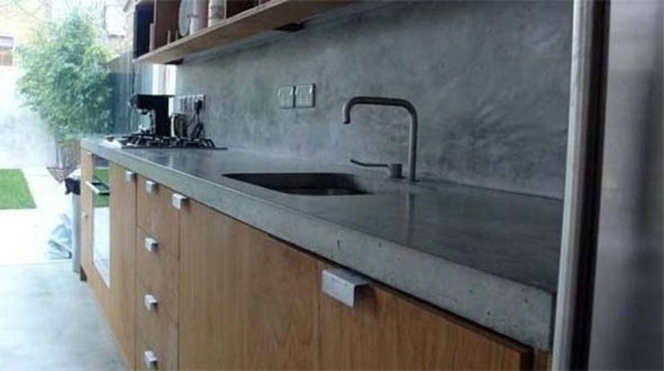 Polished Concrete worktops love this look with colour and light natural wood