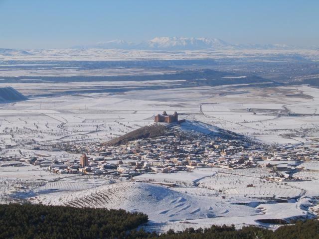 Aqui nieva.La Calahorra.Spain.
