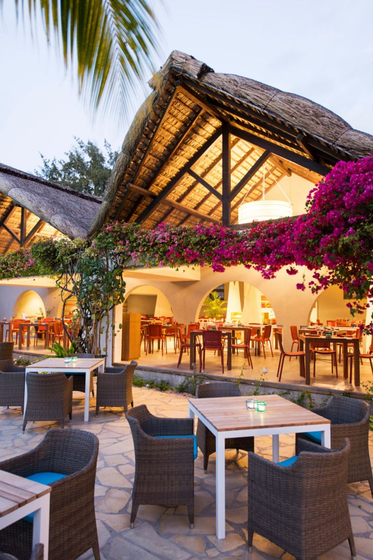 """Regatta"" the main restaurant at Veranda Palmar Beach, Mauritius"