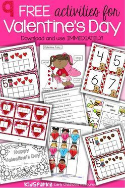 Free Valentine's Day activities and printables. #freevalentinesday #freeprintables #preschool #kindergarten
