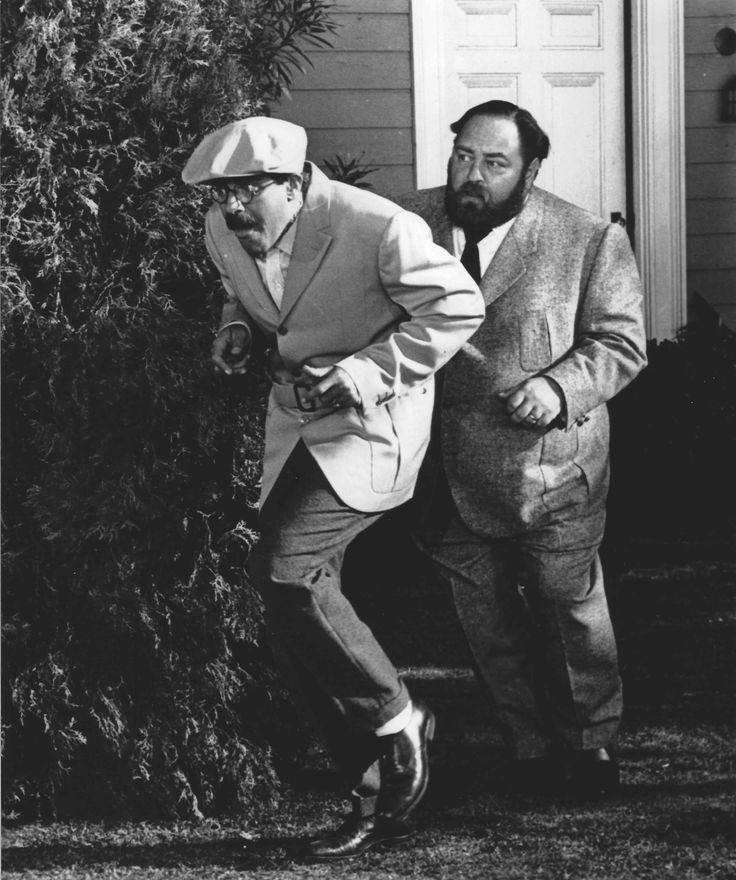 """""""The Family Jewels"""" movie still, 1965.  L to R: Writer/director/producer/star Jerry Lewis, Sebastian Cabot."""