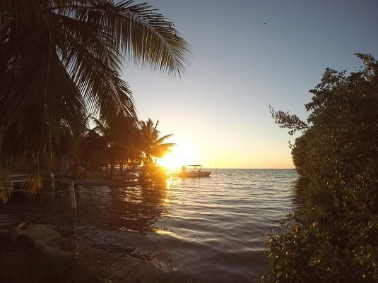 Sunset in Caye Belize