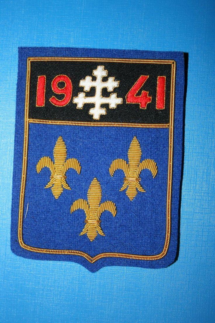 ROYAL AIR FORCE RAF 340TH FRENCH SQUADRON BULLION WIRE BLAZER BREAST BADGE Khalida Embroidery Works Cotact Us: khalidaeworks@gamil.com Ph:+92-315-7880152