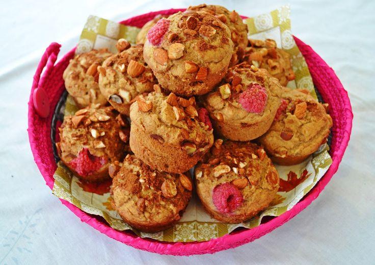 GF Breakfast Muffins with Raspberries & Nuts