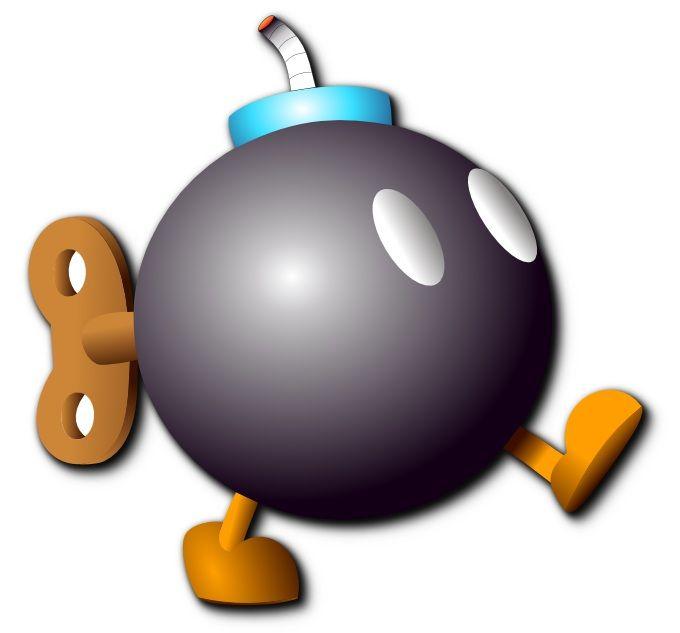 Dibuix d'una Bob-omb fet amb Inkscape. No està copiat.