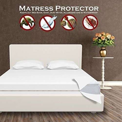 Protect A Bed Premium Waterproof Mattress Protector Bed Cover Queen #ProtectABed