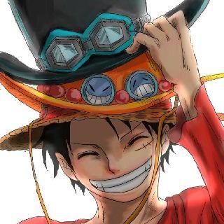 Luffy -One piece- é muito triste vê-lo com todos os três chapéus em vez de todos os três.
