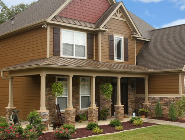 Houses With Siding Stone Siding Pillars With Hardie