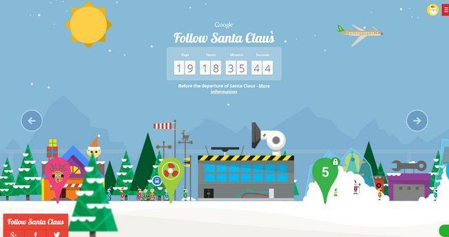 Google presenta a Papá Noel y sus duendes en la cuenta regresiva para la víspera de Navidad