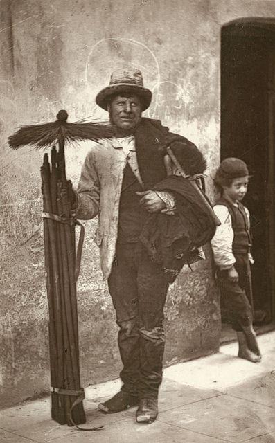Chimney Sweep, London, England, 1877.