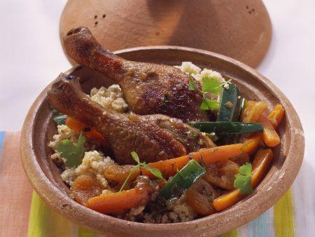 Tajine mit Ente und Couscous
