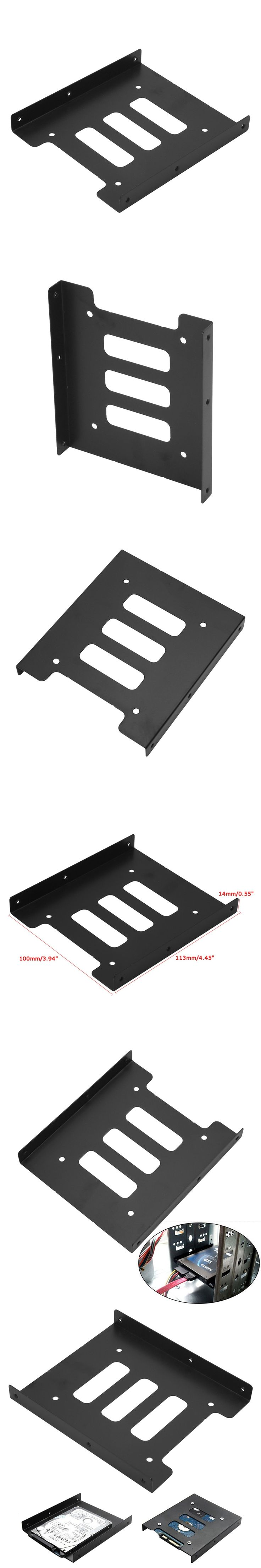 """2.5"""" to 3.5"""" SSD HDD Metal Adapter Mounting Bracket Hard Drive Holder Dock For PC  Laptop Protect Hard Disk Bracket"""