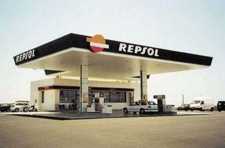 Repsol petrol forecourt in Spain