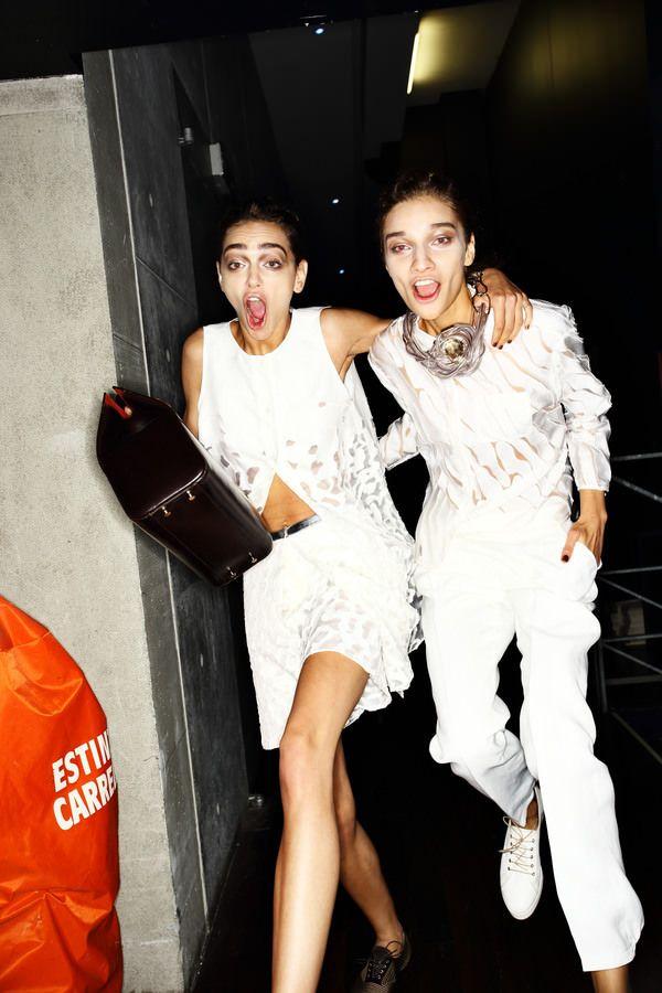 Giorgio Armani Fashion show backstage > http://sonnyphotos.com/2014/09/giorgio-armani-ss15-fashion-show-milan-backstage